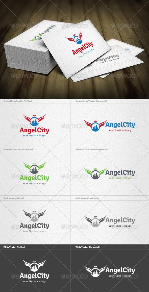 GraphicRiver Angel City Logo 4525468