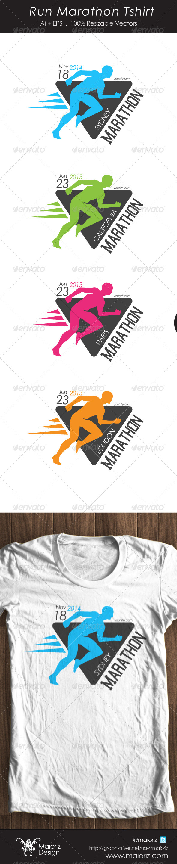 GraphicRiver Run Marathon Tshirt 4525784