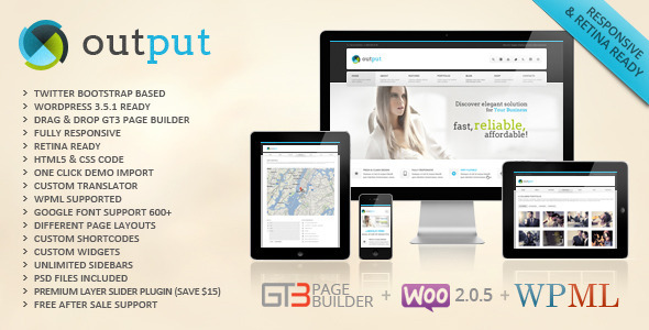 ThemeForest Output Responsive Multi-Purpose Wordpress Theme 4525865