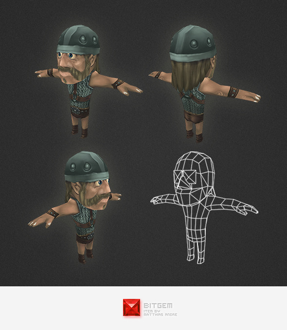 3DOcean Low Poly Human Archer 4525971