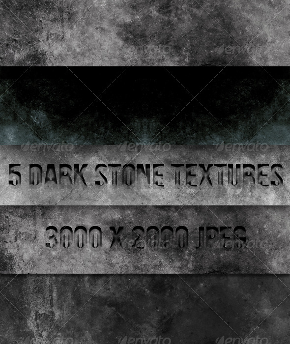 GraphicRiver 5 Dark Concrete Textures 4525990