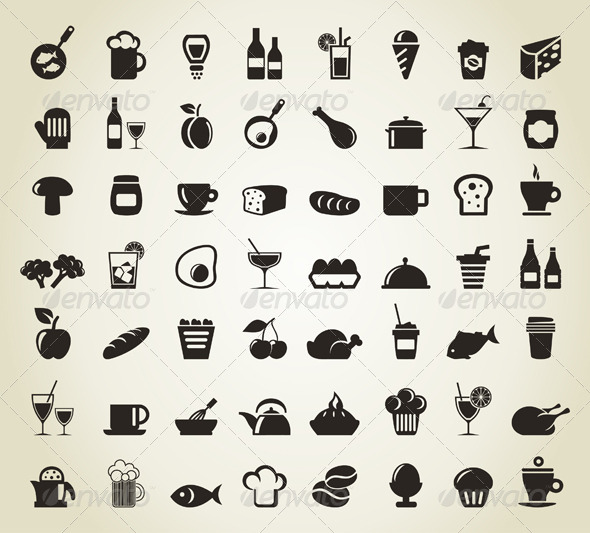 GraphicRiver Meal Icons 4526056