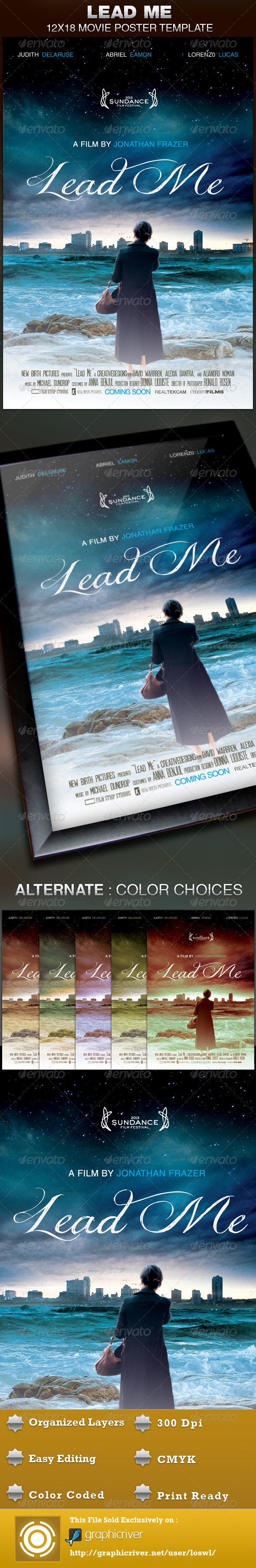 GraphicRiver Lead Me Movie Poster Template 4526173
