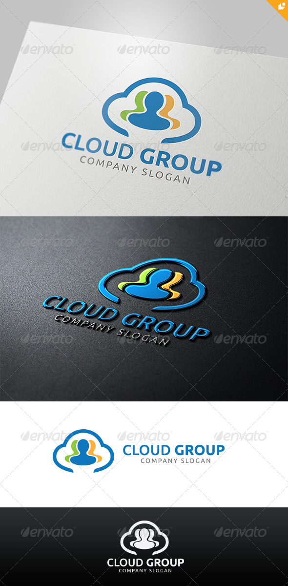 GraphicRiver Cloud Group Logo 4526240