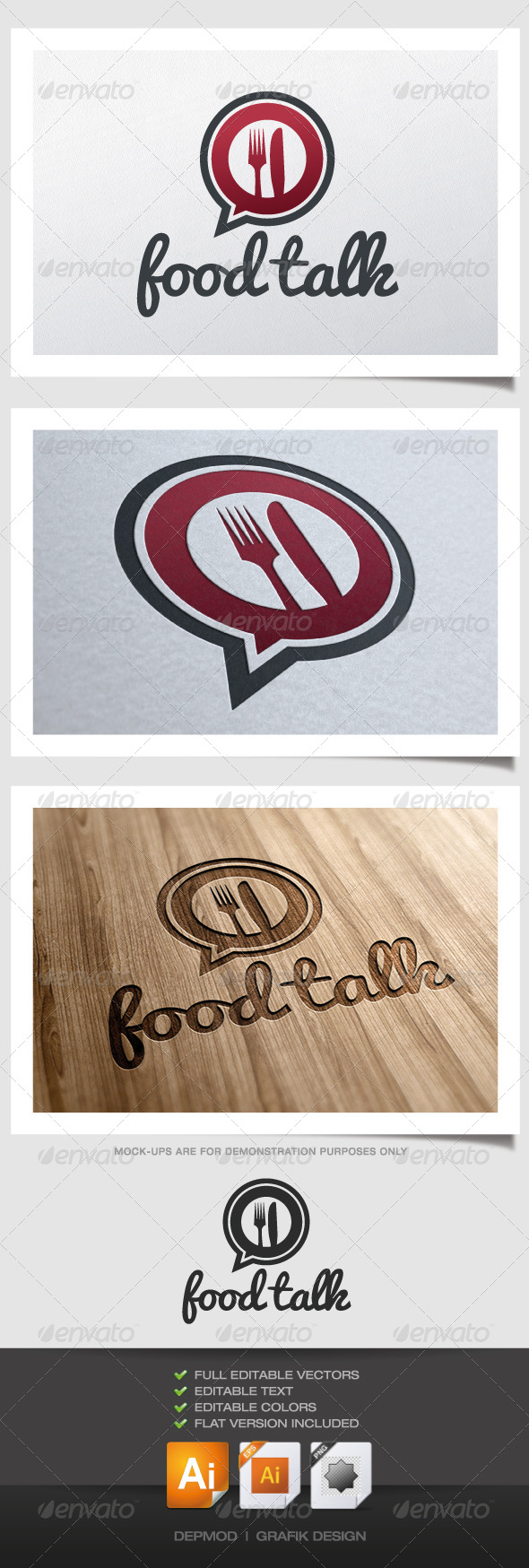 GraphicRiver Food Talk Logo 4526244