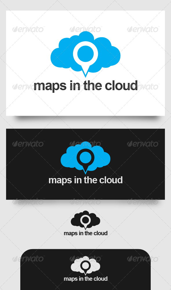 GraphicRiver Maps in the Cloud 4526335