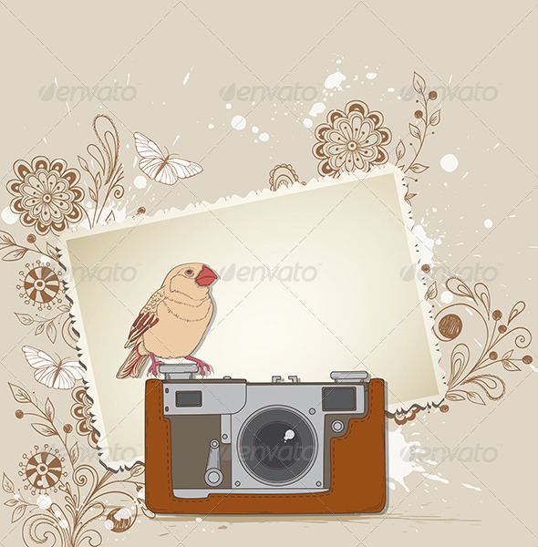 GraphicRiver Old Camera and Bird 4526337