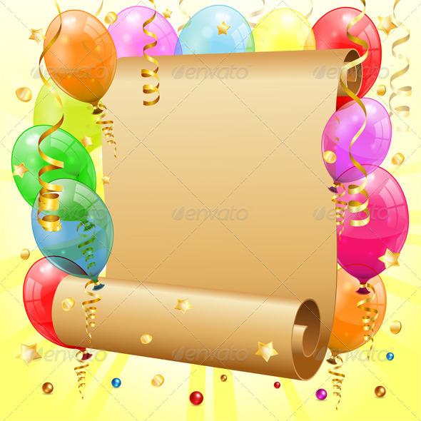 GraphicRiver Birthday Frame 4272259