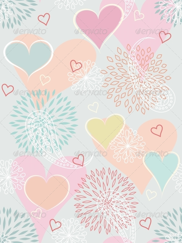 GraphicRiver Heart Seamless Background 4526405