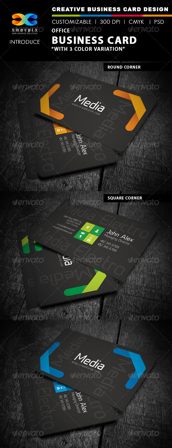 GraphicRiver Office Business Card 4526412