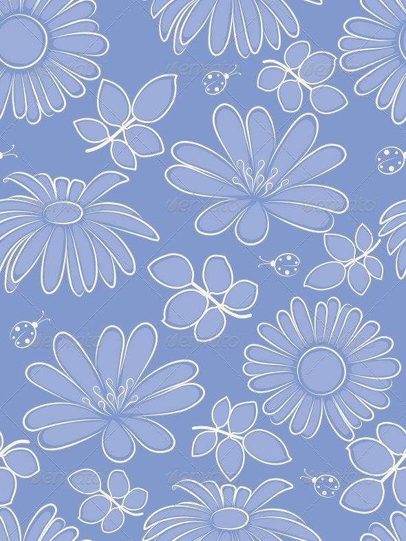 GraphicRiver Floral Seamless Pattern 4526454
