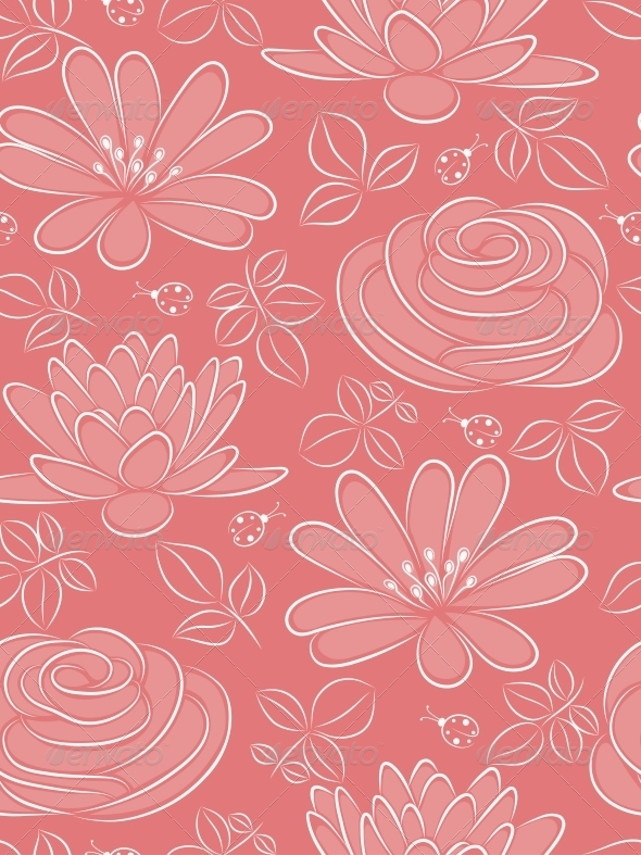 GraphicRiver Floral Seamless Pattern 4526455