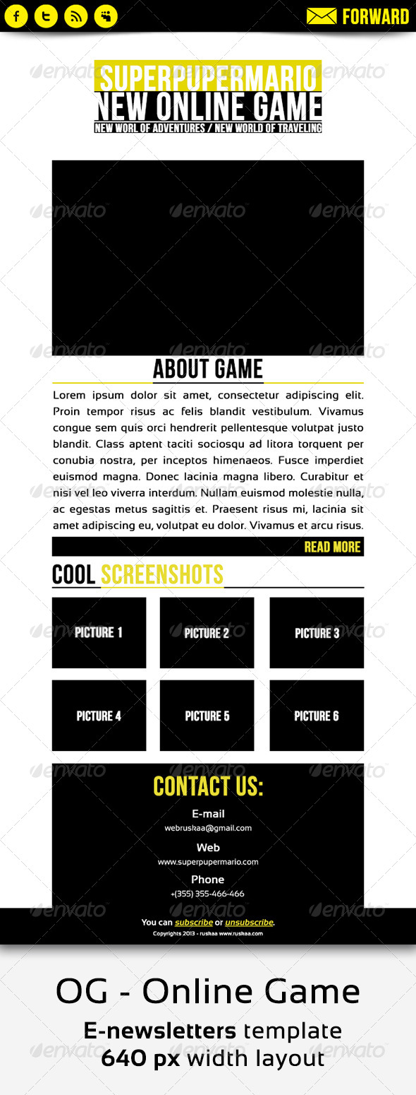 GraphicRiver OG E-newsletters Template 4526756