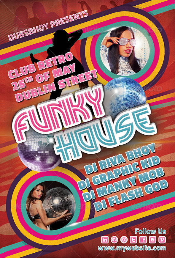 GraphicRiver Funky House Flyer 4427396