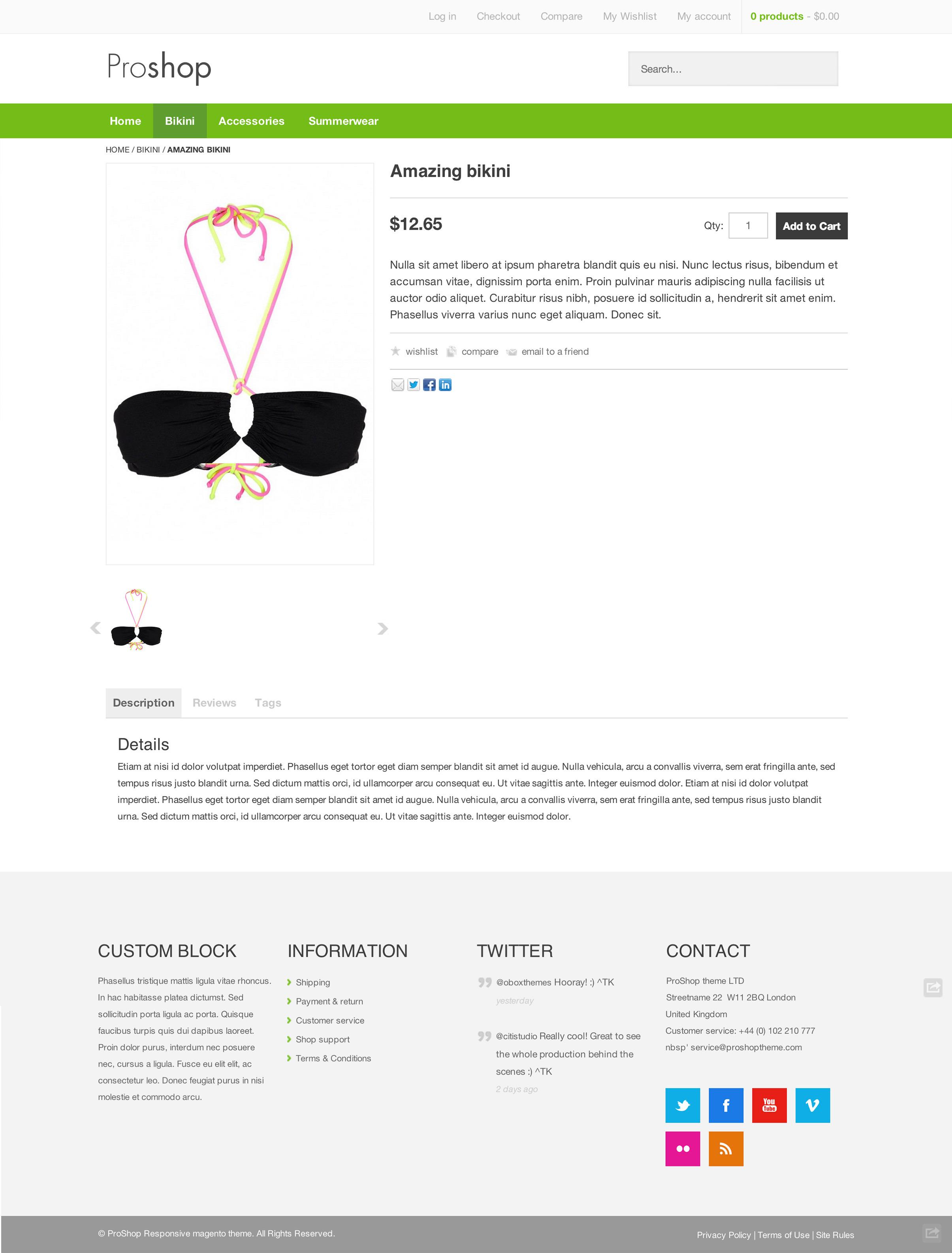Proshop - Retina Responsive Magento Theme