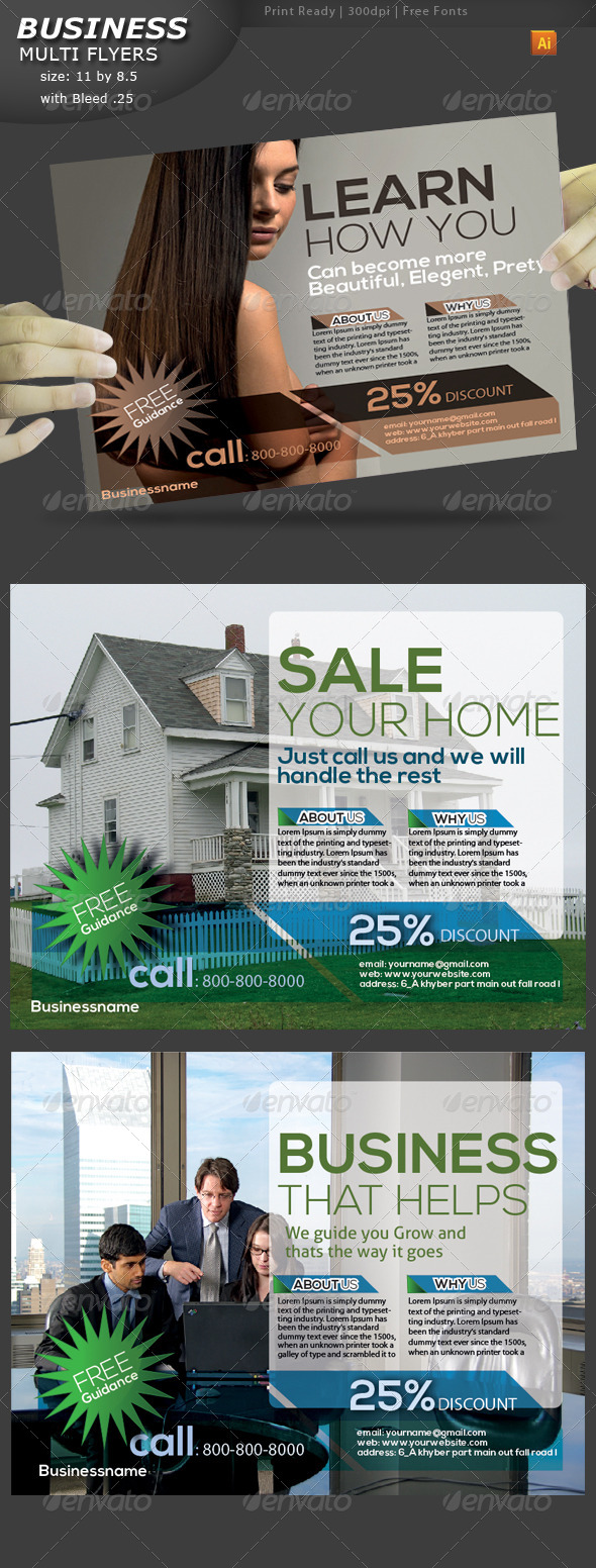GraphicRiver Business Flyers 4410610