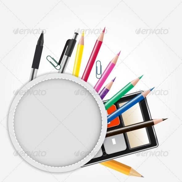 GraphicRiver School Theme Background with Different Tools 4527263