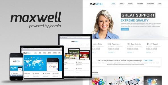ThemeForest Maxwell Joomla Multipurpose Template 4527300