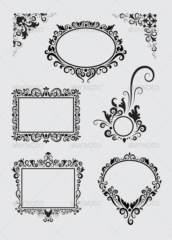 Swirl Ornaments - Flourishes / Swirls Decorative