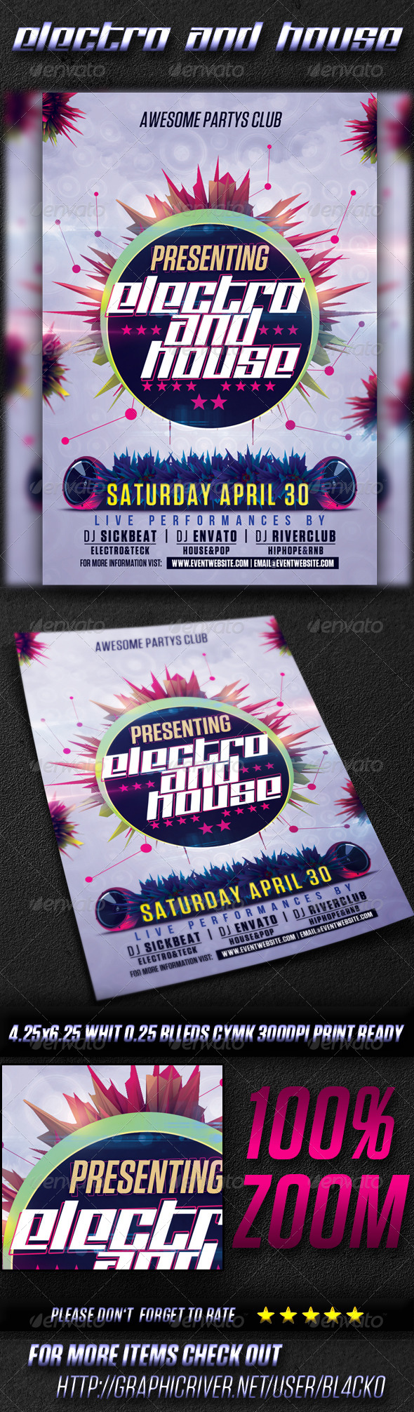 GraphicRiver Electro And House Party Vol3 4527342