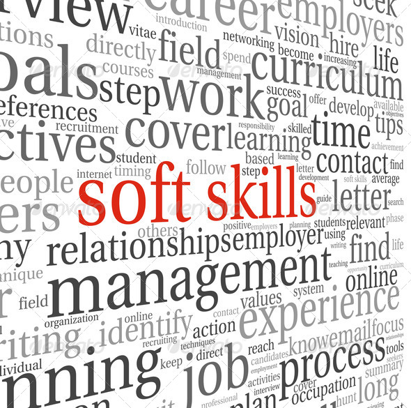 Soft skills concept on white - Stock Photo - Images
