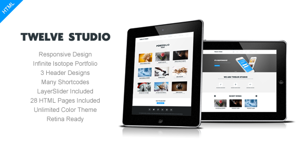 Twelve Studio - Responsive Multipurpose Template - Business Corporate