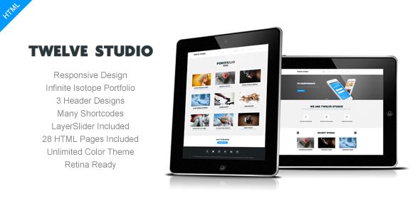 ThemeForest Twelve Studio Responsive Multipurpose Template 4527398