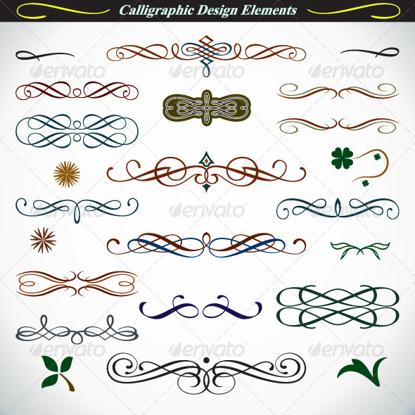 GraphicRiver Calligraphic Design Elements 4527401