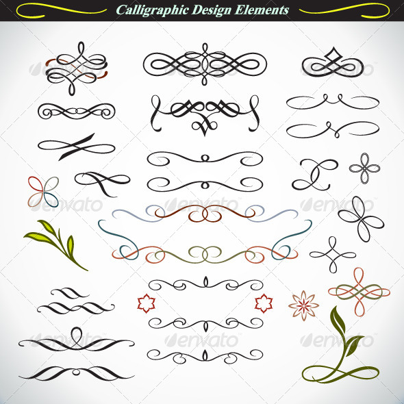 GraphicRiver Calligraphic Design Elements 3 4527403