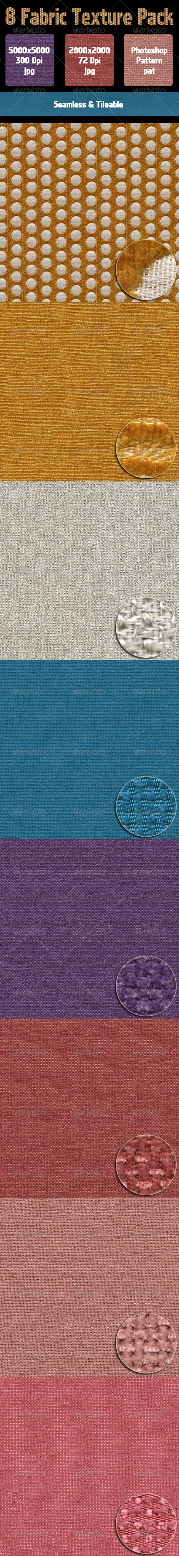 GraphicRiver 8 Fabric Texture Pack 4527718