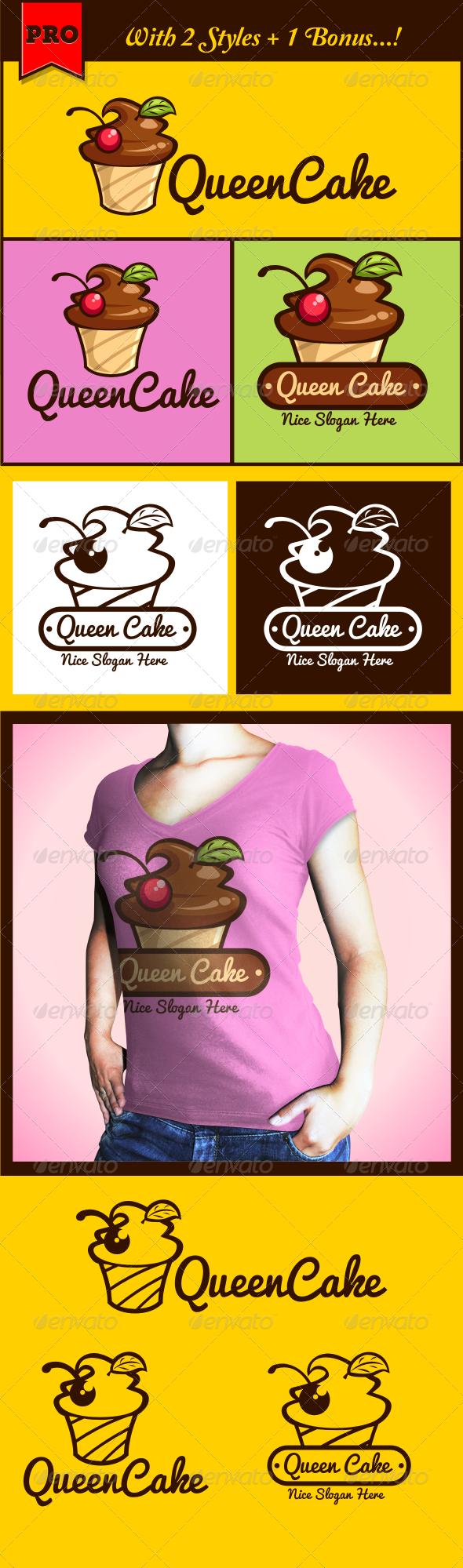 GraphicRiver QueenCake Cupcake Logo 4493626