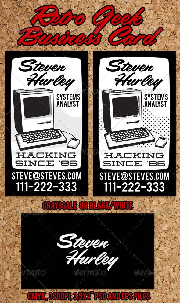 GraphicRiver Retro Geek Business Card 4527920