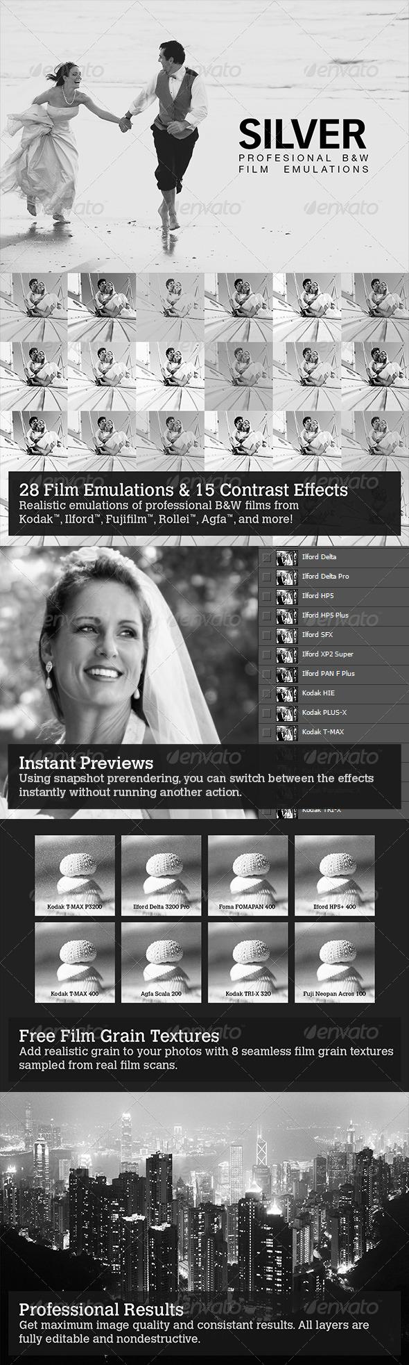 GraphicRiver Silver 28 B&W Film Emulations 4468654