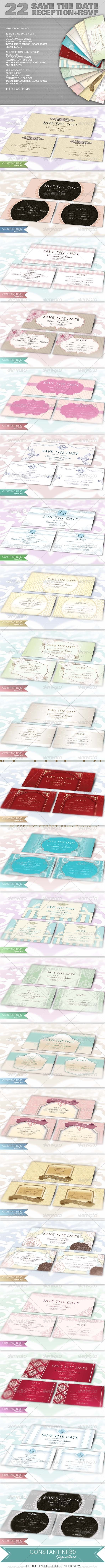 GraphicRiver 22 Save The Date Sets 4528624