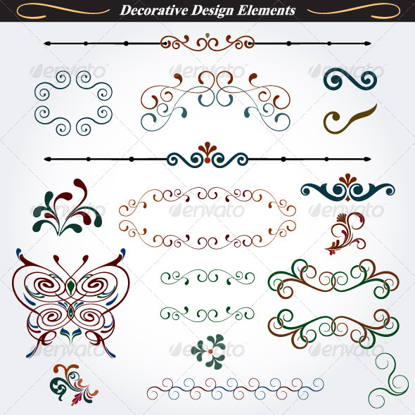 GraphicRiver Collection of Decorative Design Elements 3 4528710