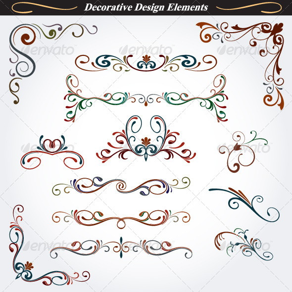 GraphicRiver Collection of Decorative Design Elements 4 4528726