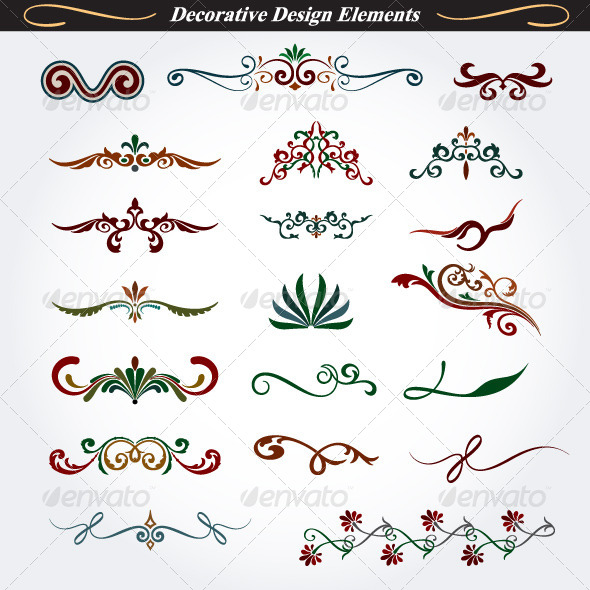 GraphicRiver Collection of Decorative Design Elements 5 4528735