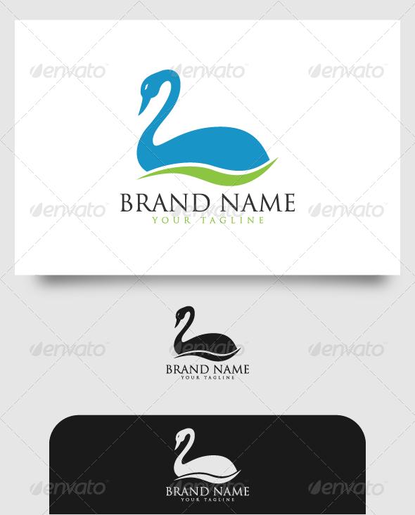 GraphicRiver Blue Swan Logo 4529037