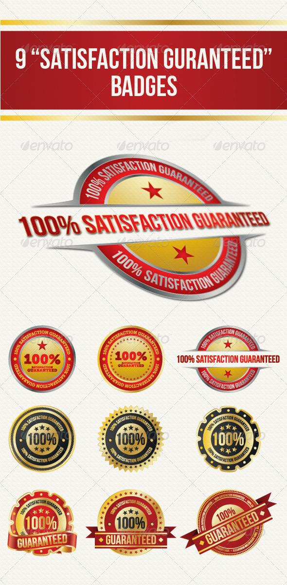 GraphicRiver Guaranteed Satisfaction Badges 4529266