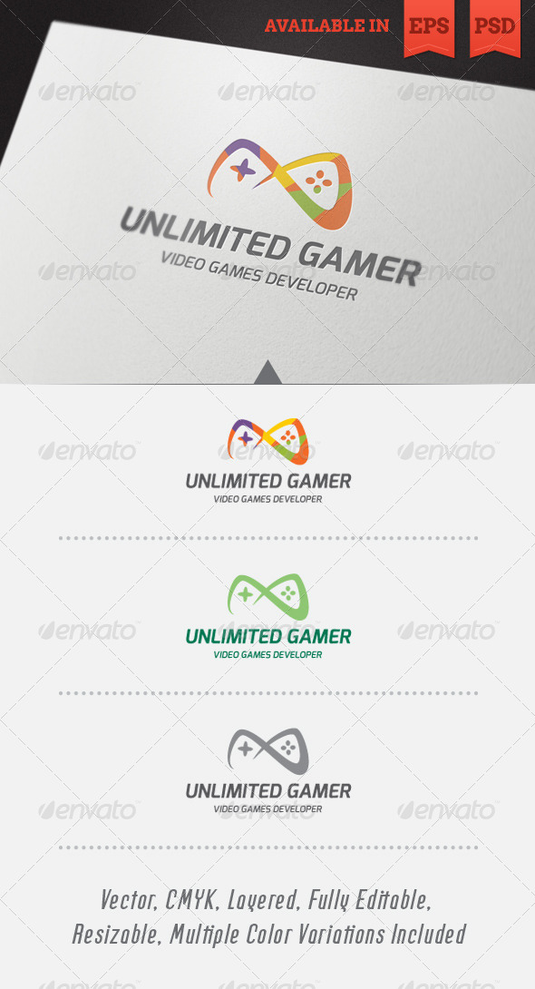 GraphicRiver Unlimited Gamer Logo Template 4529267