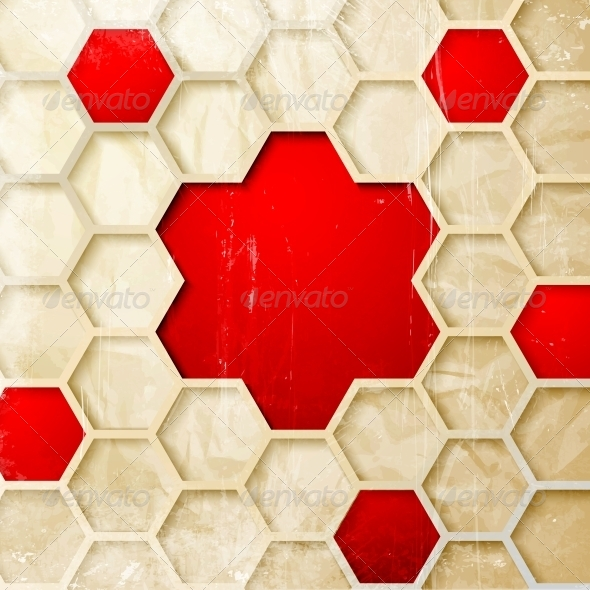 GraphicRiver Abstract Hexagon Background 4529270