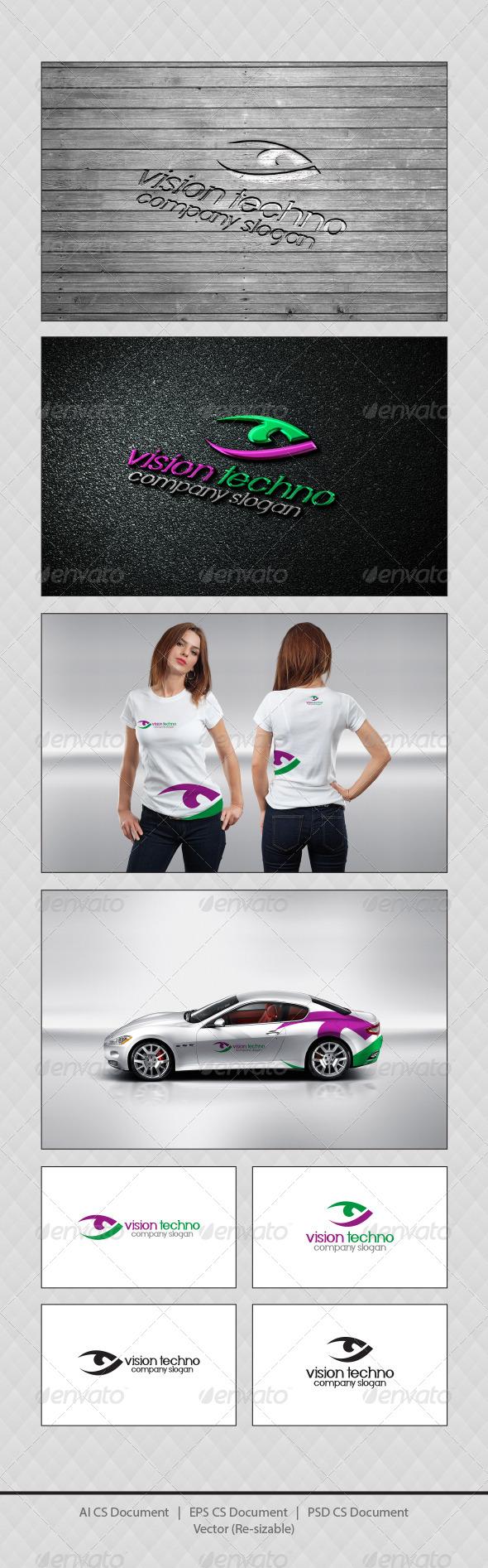 GraphicRiver Vision Techno Logo Templates 4261748