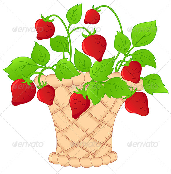 GraphicRiver Basket of Strawberries 4529736