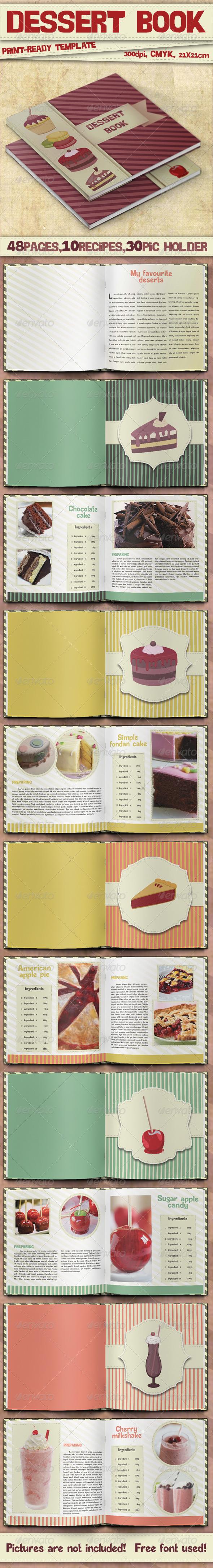 GraphicRiver Dessert Book Template 4529842