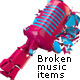 3D Broken Music Items - GraphicRiver Item for Sale