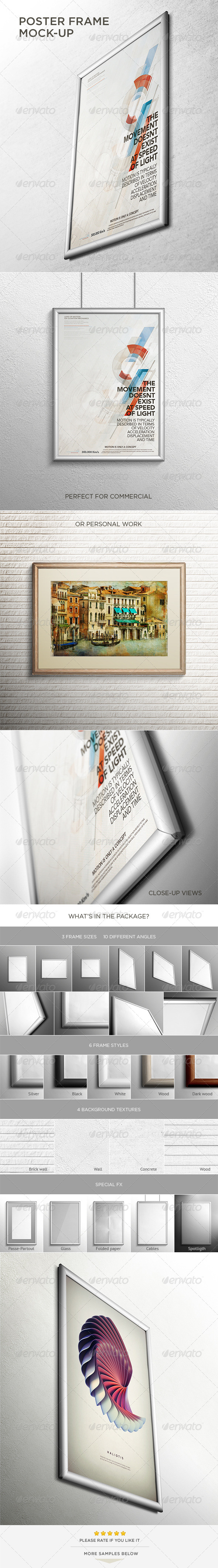 GraphicRiver Poster Frame Mock-Up 4530020