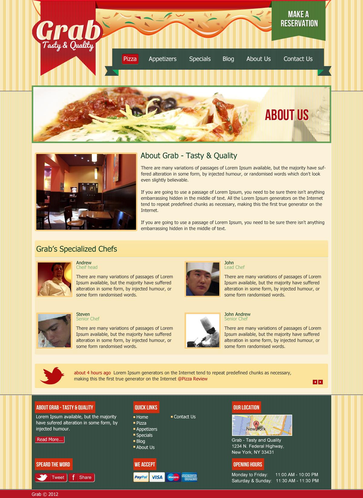 Grab Restaurant Theme - HTML Template