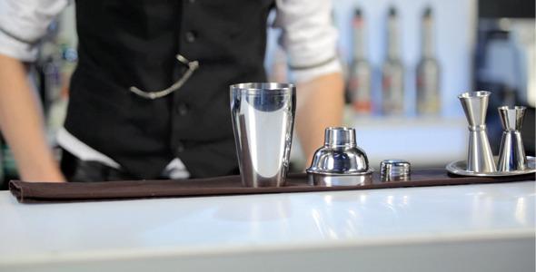 Barman Rolling a Shaker