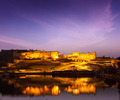Amer Fort (Amber Fort) at night in twilight.  Jaipur, Rajastan, - PhotoDune Item for Sale