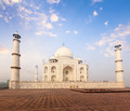 Taj Mahal on sunrise sunset, Agra, India - PhotoDune Item for Sale